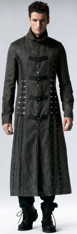 Laçage Long Manteau Avec 548 Gris Punk Rave Steampunk Y PkuXOiZT