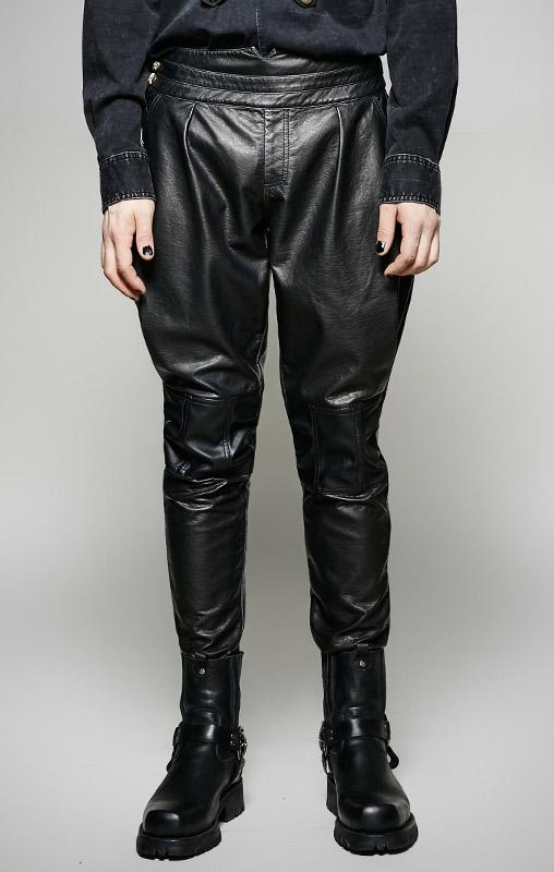 New York cd8d5 9d982 Pantalon noir militaire simili cuir homme élégant aristocrate gothique Punk  Rave