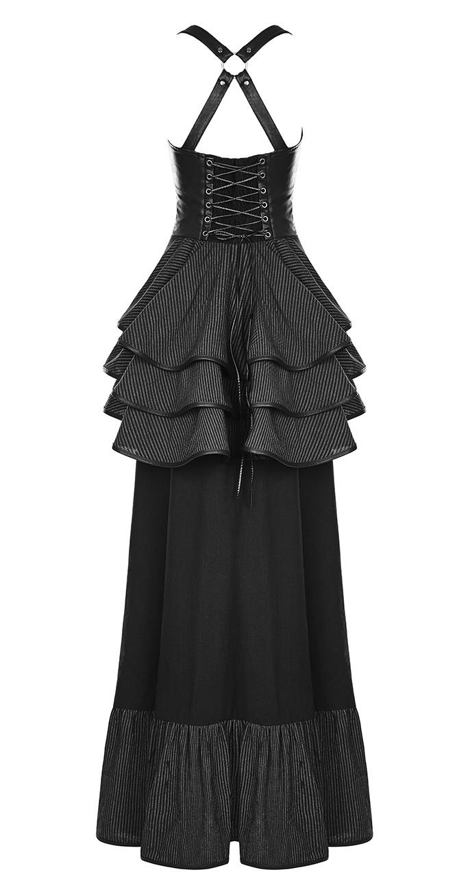 90f159c82bcb16 Jupe corset à bretelles avec drapé, laçages et faux cul, gothique western,  Punk Rave