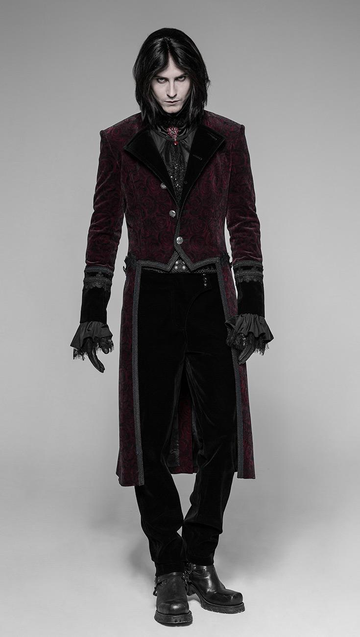 velours homme rougecol et en brod Veste bordures DHeEYW29Ib